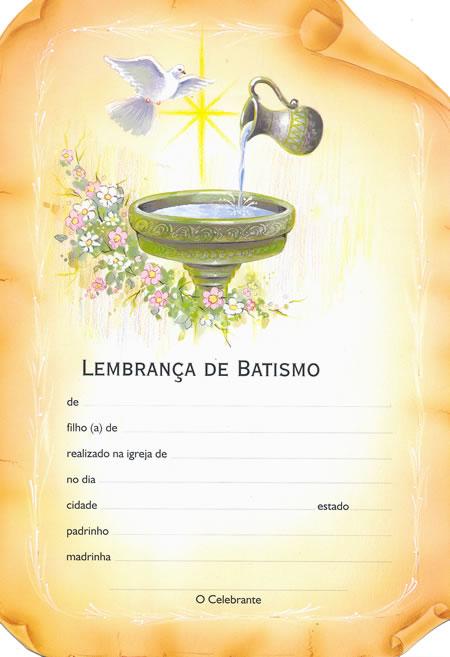 Batismo S Rie Diploma 12 Pacote Com 50 Unidades 7891210012289