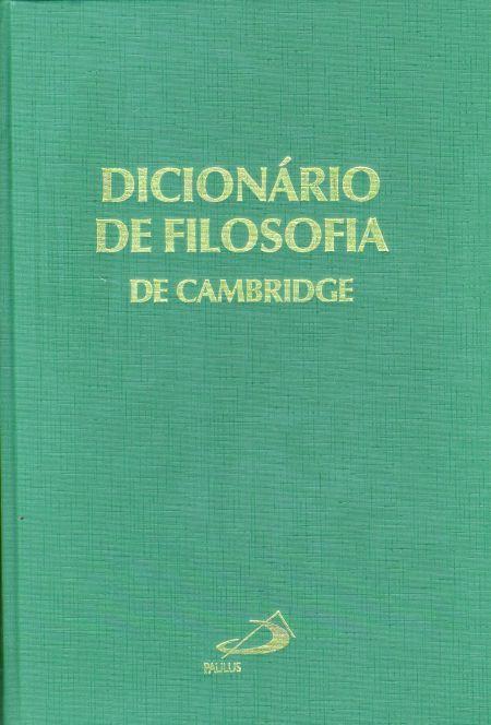 Dicion 225 Rio De Filosofia De Cambridge 9788534923576
