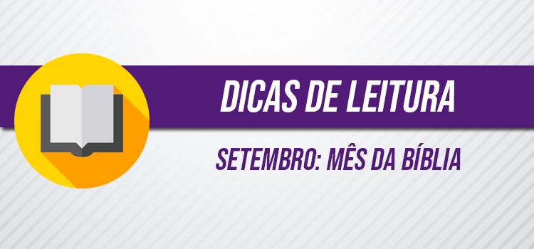 banner dicas de leitura no mês da bíblia em setembro