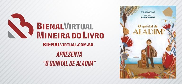 BANNER BIENAL MINEIRA DO LIVRO SOBRE A OBRA O QUINTAL DE ALADIM